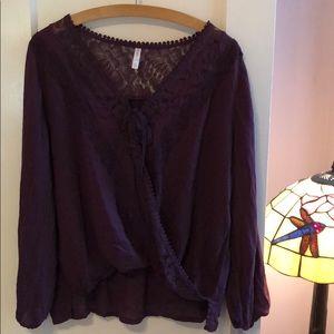 Plum lace blouse